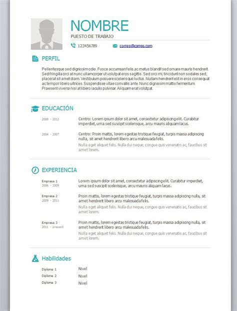 Ejemplo de curriculum vitae para rellenar jpg 737x967